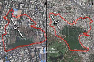 Exclusive Satellite images show how Hyderabad lakes have shrunk by upto 83 since 1967