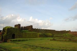 Towering bastions majestic ruins Karnatakas Mirjan Fort is a marvel