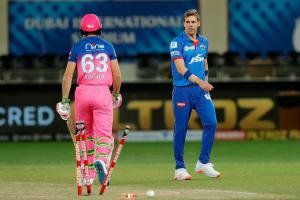 DCs Anrich Nortje smashes IPL record for fastest ball in blistering opening spell
