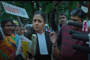 Watch Jyotika plays lawyer fighting a tough case in Ponmagal Vandhal trailer