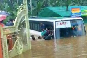 Kerala RTC driver steers bus through flooded road suspended for risking lives