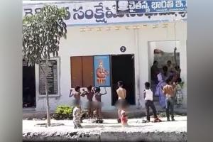 Students forced to stand naked for being late to Andhra school parents protest