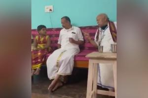 RSS chief Mohan Bhagwat worships cow in TN ahead of Pongal celebrations