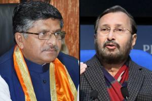 Senior ministers Ravi Shankar Prasad Prakash Javadekar resign from the Union Cabinet