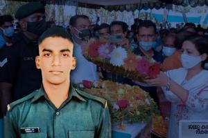 Soldier killed in JK terrorist attack gets tearful adieu in his native in Kerala