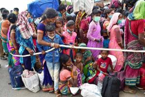 179 stranded migrant workers airlifted to Raipur from Bengaluru in chartered flight