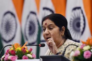 Sushma asks UAE to stop issuing work visas to Indian women who arrive on visitor visas