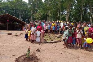 Andhra official helps Adivasis in remote area build a school for their children