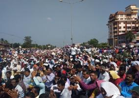 Thousands protest to highlight plight of 7 Ktaka fishermen missing at sea for 22 days