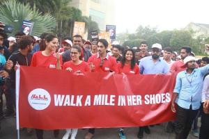 Actor Varalaxmi Sarathkumar flags off walk to create awareness on domestic violence