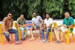 Venkatesh and Varun Tej back on the sets of F3