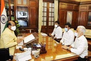 YSRCP MPs meet Lok Sabha Speaker renew call to disqualify rebel Narasapuram MP