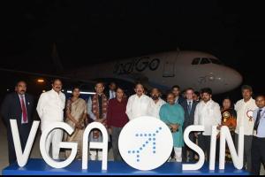 Vijayawada airport gets international status first flight takes off to Singapore