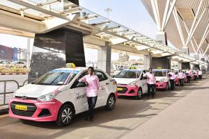 Taxi services by women launched at Bengaluru Airport for female passengers