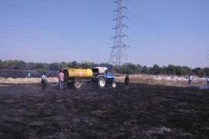 Fire breaks out in University of Hyderabad 10 acres gutted 2 snakes dead