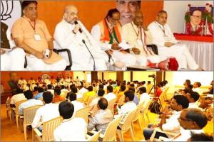 Youre not doing what is expected of you What Amit Shah told his cadre in Telangana