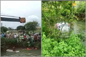 One dead as car falls into agricultural well in Telanganas Karimnagar