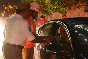 Cyberabad police resume drunk driving checks book 126 cases in one night