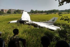 Training aircraft crashes in field near Hyderabad pilot sustains minor injuries