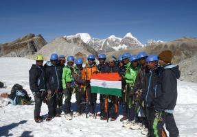 12 students from tribal hamlets of Telangana scale Mt Lakapakanchy