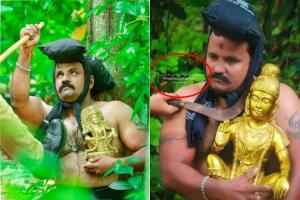 This viral image of police action in Sabarimala isnt real its from a photo-shoot