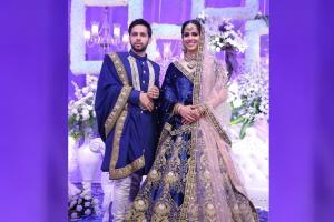 Pics Saina Nehwal Parupalli Kashyap look regal in their star-studded Hyd reception