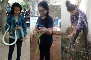 Rescuing snakes busting myths Meet the Hyderabad women who love the reptile