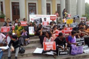 We want justice Trans community in Bluru protests trans anti-trafficking bills