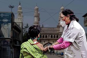 Over 235 lakh people in Hyderabad have got first dose of COVID-19 vaccine