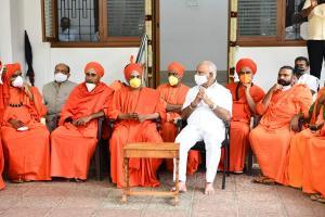 What spurred Yediyurappas meetings with seers A BJP leaders audio clip