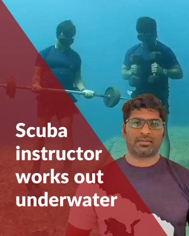 Why this Puducherry scuba instructor worked out underwater