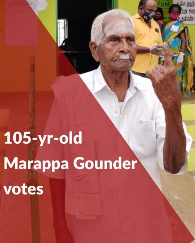 Meet 105-yr-old Marappa Gounder who has been voting from 1952 to 2021