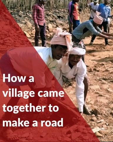Telangana village comes together to lay a mud road for a wedding