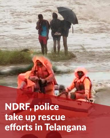 Telangana rains: NDRF, police and residents help with rescue in floods