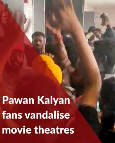 Movie theatres vandalised in Andhra as Pawan Kalyan's 'Vakeel Saab' shows cancelled