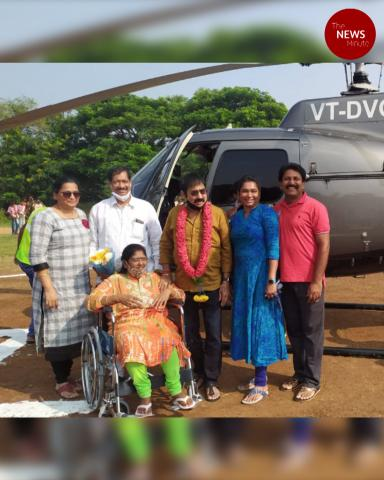 Andhra wedding guests arrive in helicopter without permission, booked by cops