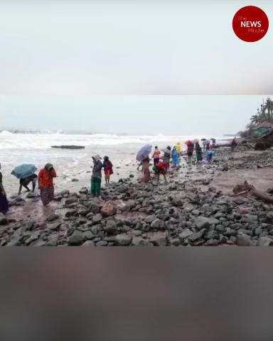 Watch: AP coastal village sees gold rush, as high tide brings gold beads