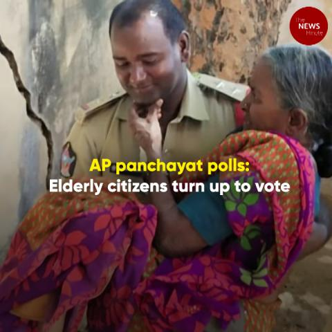 From ages 80 to 115, elderly citizens turn up to vote as AP panchayat polls conclude
