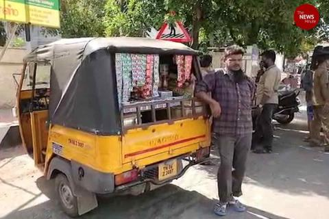 Coimbatore auto driver converts vehicle into petty shop to tackle loss of income