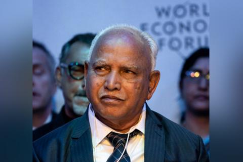 Karnataka CM BS Yediyurappa in a suit