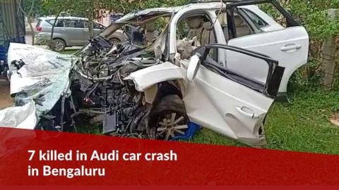 7 killed in Audi car crash in Bengaluru's Koramangala including DMK MLA's son