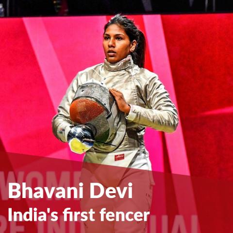 Bhavani Devi, India's first fencer at the Tokyo Olympics