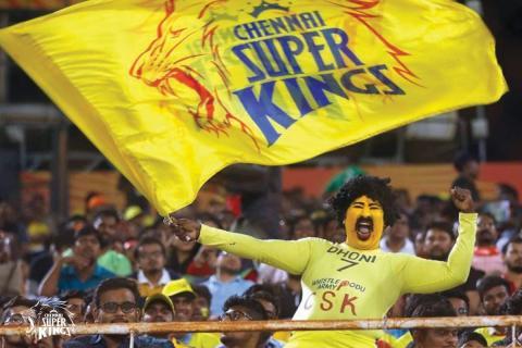 CSK 'Superfan' Saravanan at an IPL match