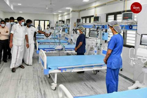 750-bed COVID-19 facility set-up in Chennai's King Institute in Guindy
