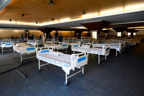 An isolation ward for coronavirus patients in Delhi