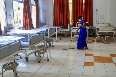 Sweeper at Covid ward