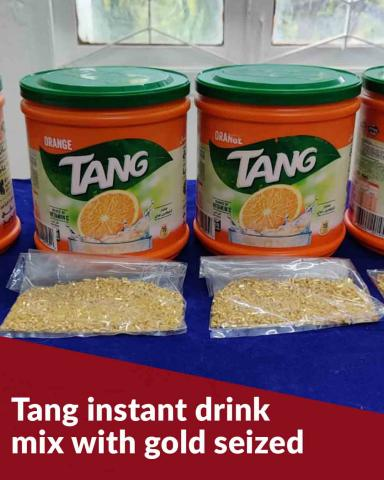 Chennai Customs seizes Tang instant drink mix with gold in it