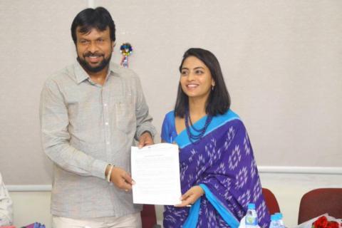 Alekhya Harika being appointed as TSTDC brand ambassador