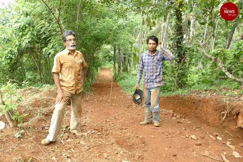 Kerala father-son duo build road to their house during lockdown