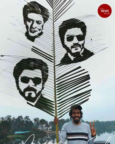 In Kerala, a group of artists is creating unbe-leaf-able designs